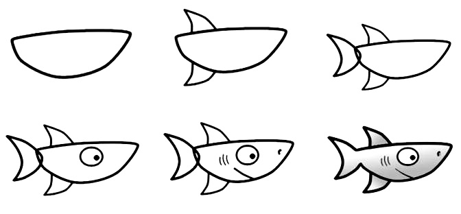 how to draw a fish 66