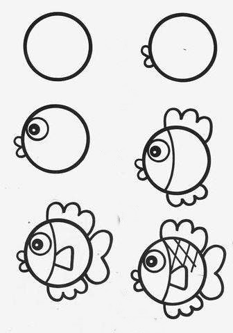 how to draw a fish 68