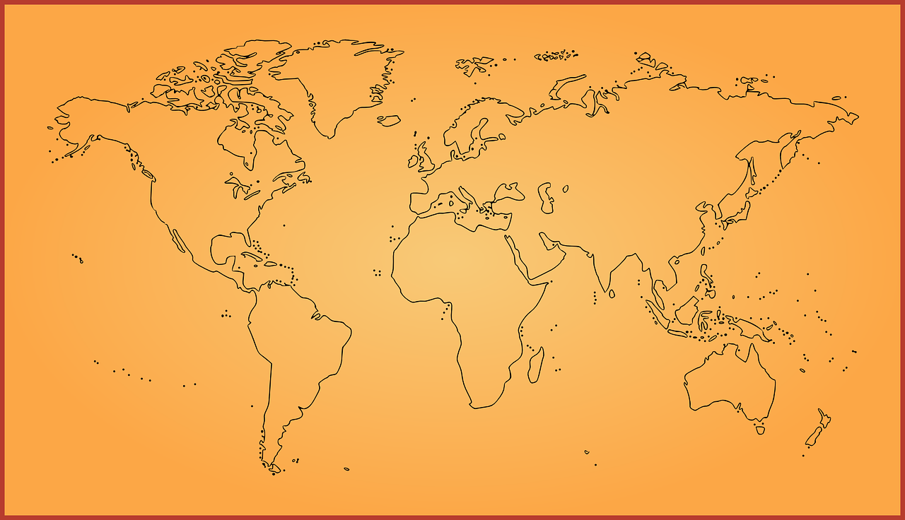 how to draw a map of the world 10