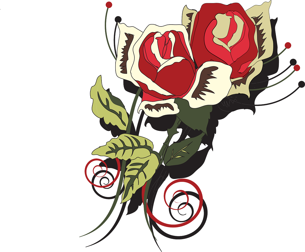 how to draw a rose 14