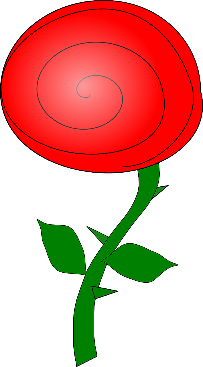 how to draw a simple rose 3