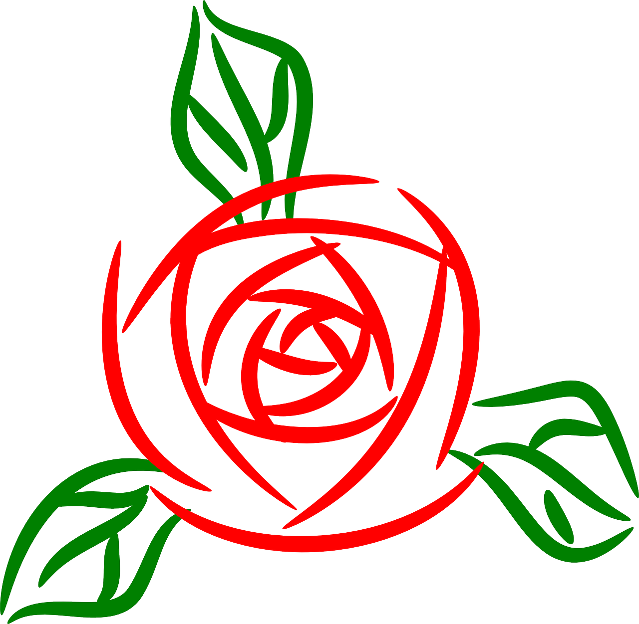 how to draw a simple rose 4