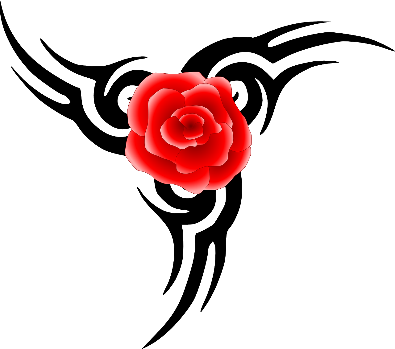 how to draw a simple rose stencil
