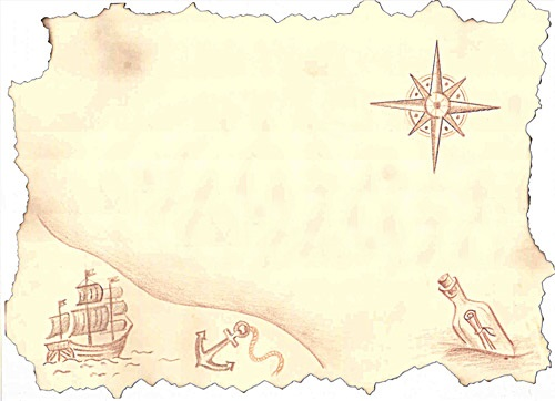how to draw a treasure map, pirates map 1