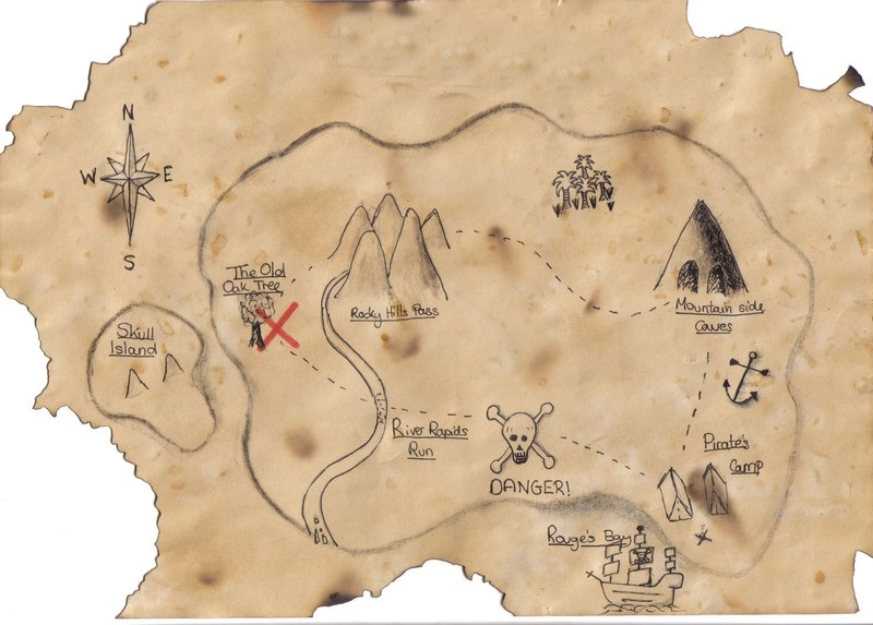 how to draw a treasure map, pirates map 10