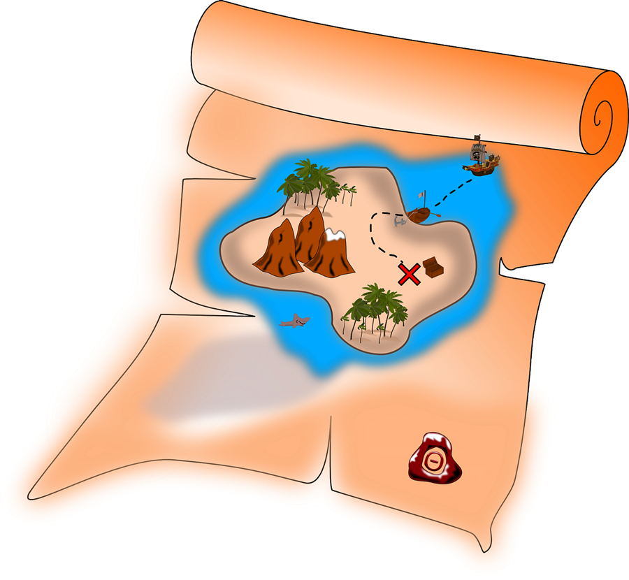 how to draw a treasure map, pirates map 16