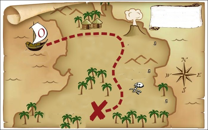 how to draw a treasure map, pirates map 6