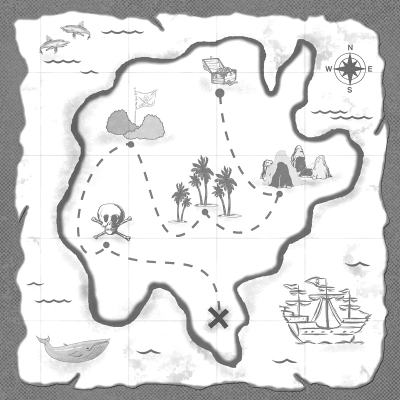 how to draw a treasure map, pirates map 7