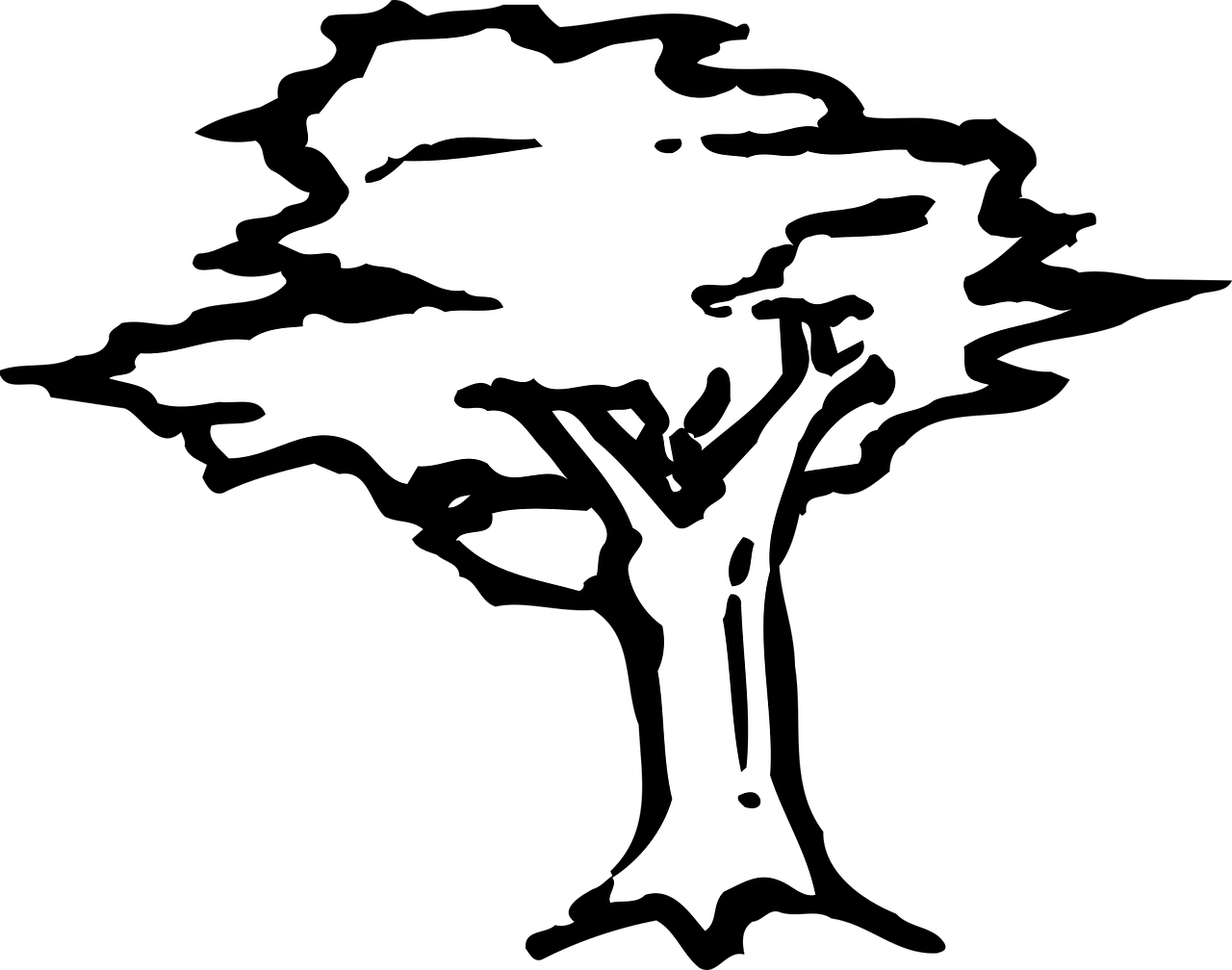 how to draw a tree, coloring 1