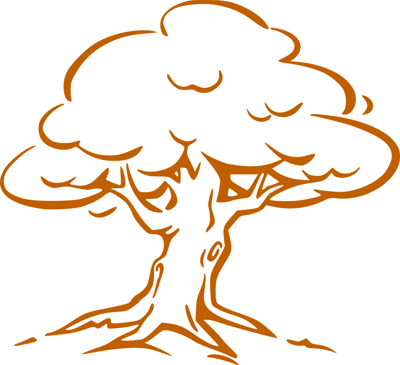 how to draw a tree, coloring 4