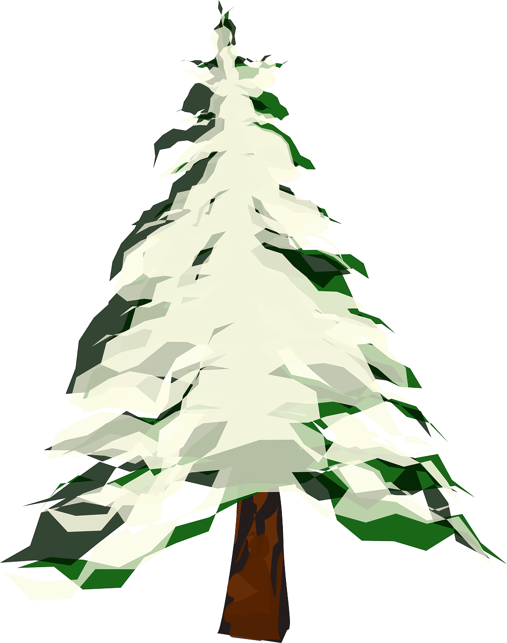 how to draw a tree. winter 3
