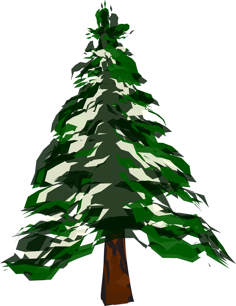 how to draw a tree. winter 6
