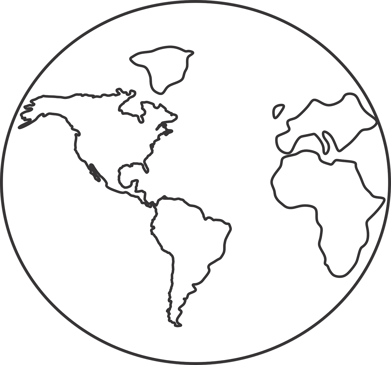 how to draw globe on a ball 5