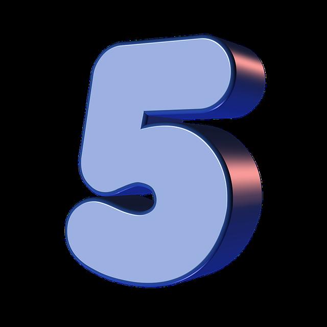 numbers printable 01 - 5