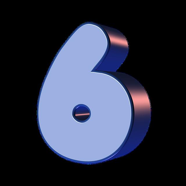 numbers printable 01 - 6