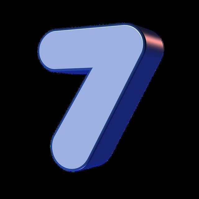 numbers printable 01 - 7