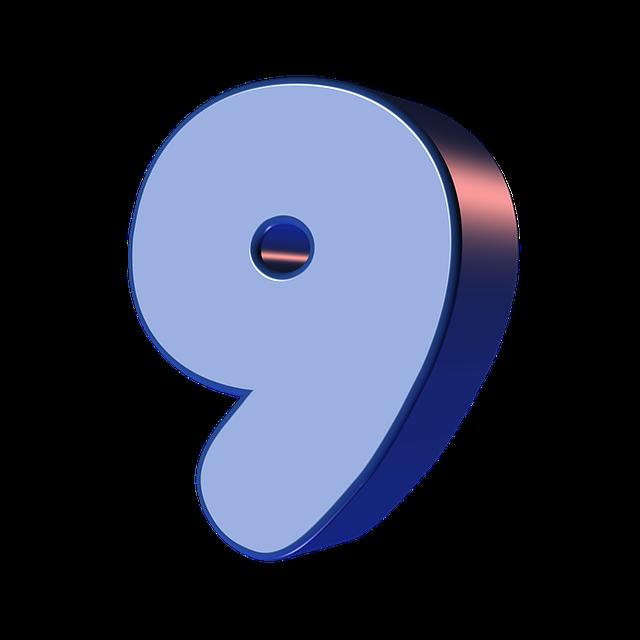 numbers printable 01 - 9