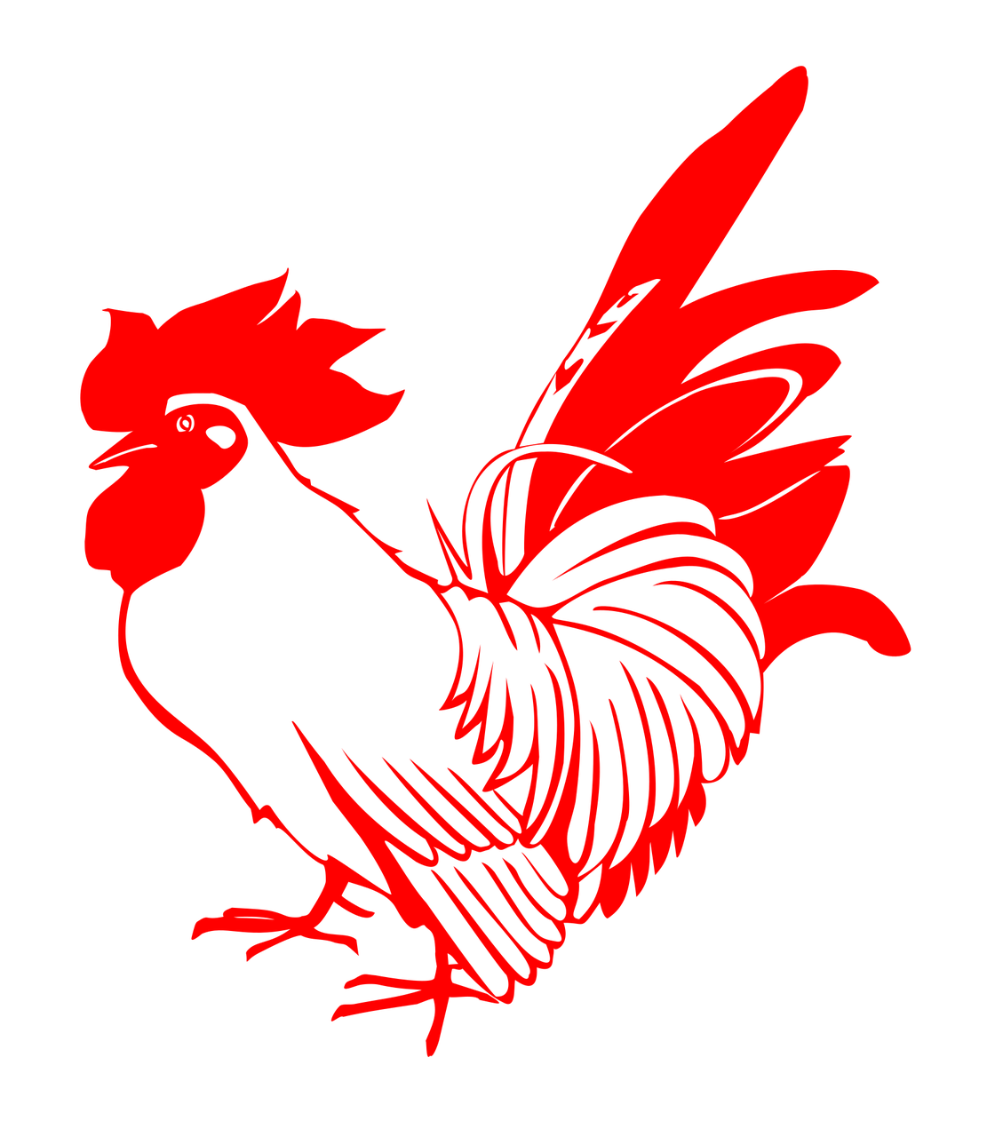How to draw a cock: free printable cock stencils 3