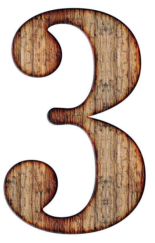 3 three- numbers from 1 to 10 images for printing, part 15