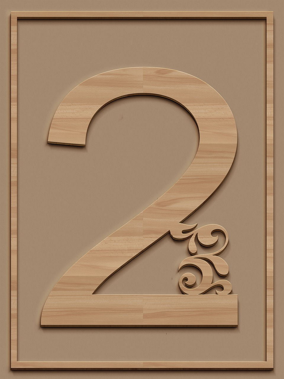2 two- numbers from 1 to 10 images for printing, part 13