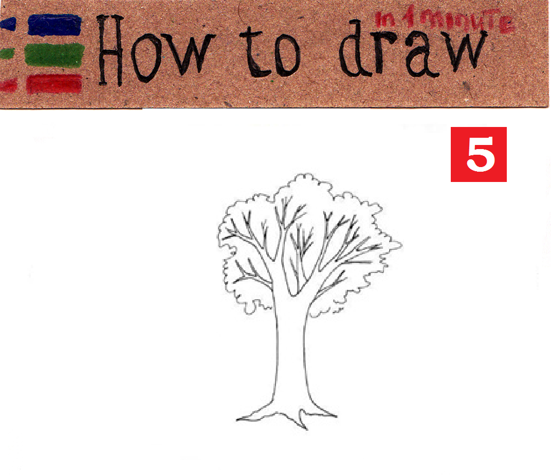 How to draw a tree: easy lesson part 1