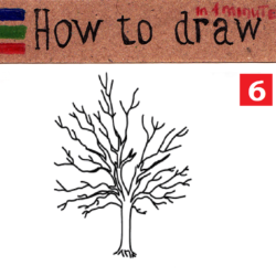 How to draw a tree: easy step by step tutorial