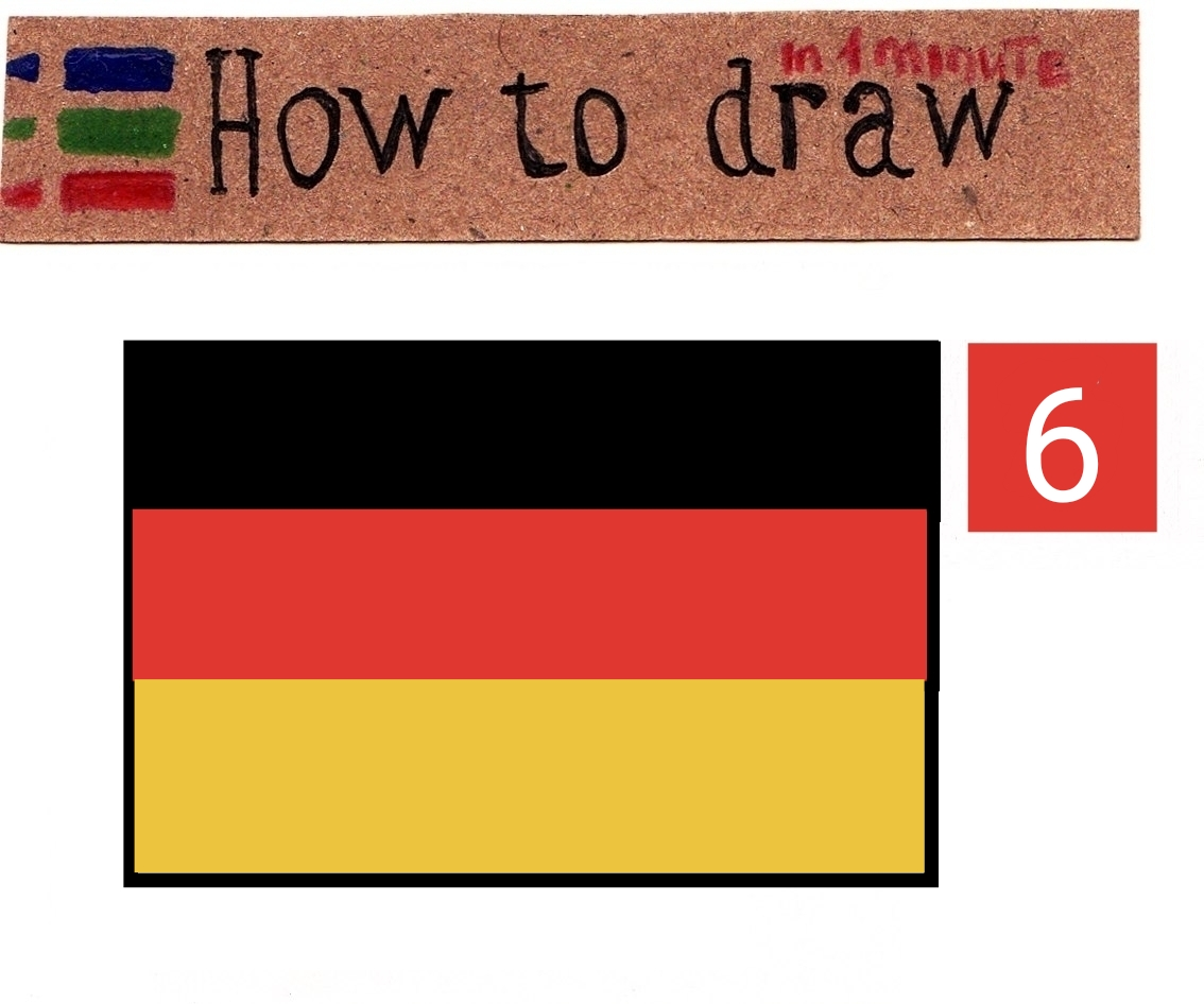 How to draw the flag of Germany in stages