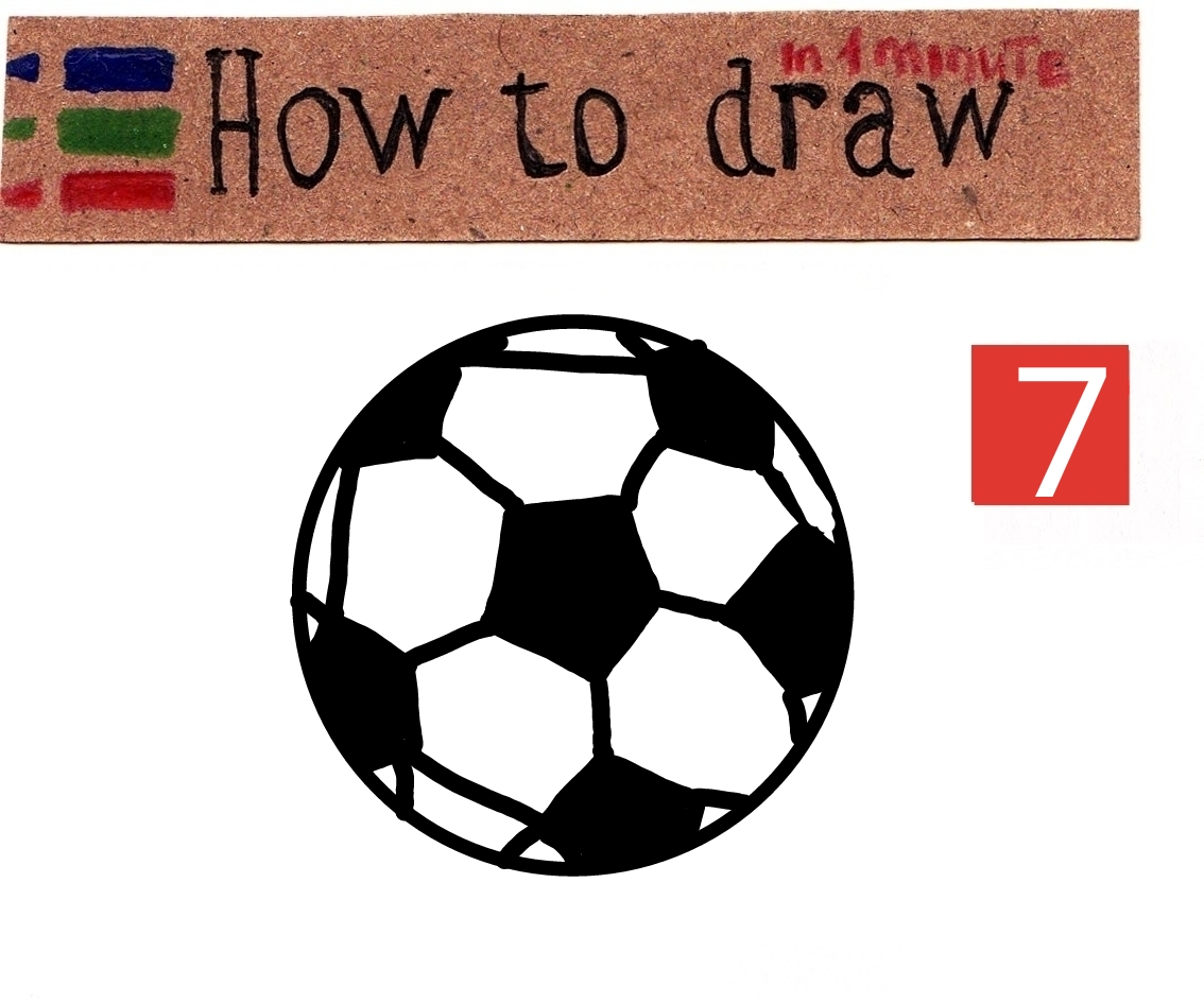 How to draw a soccer ball easy tutorial
