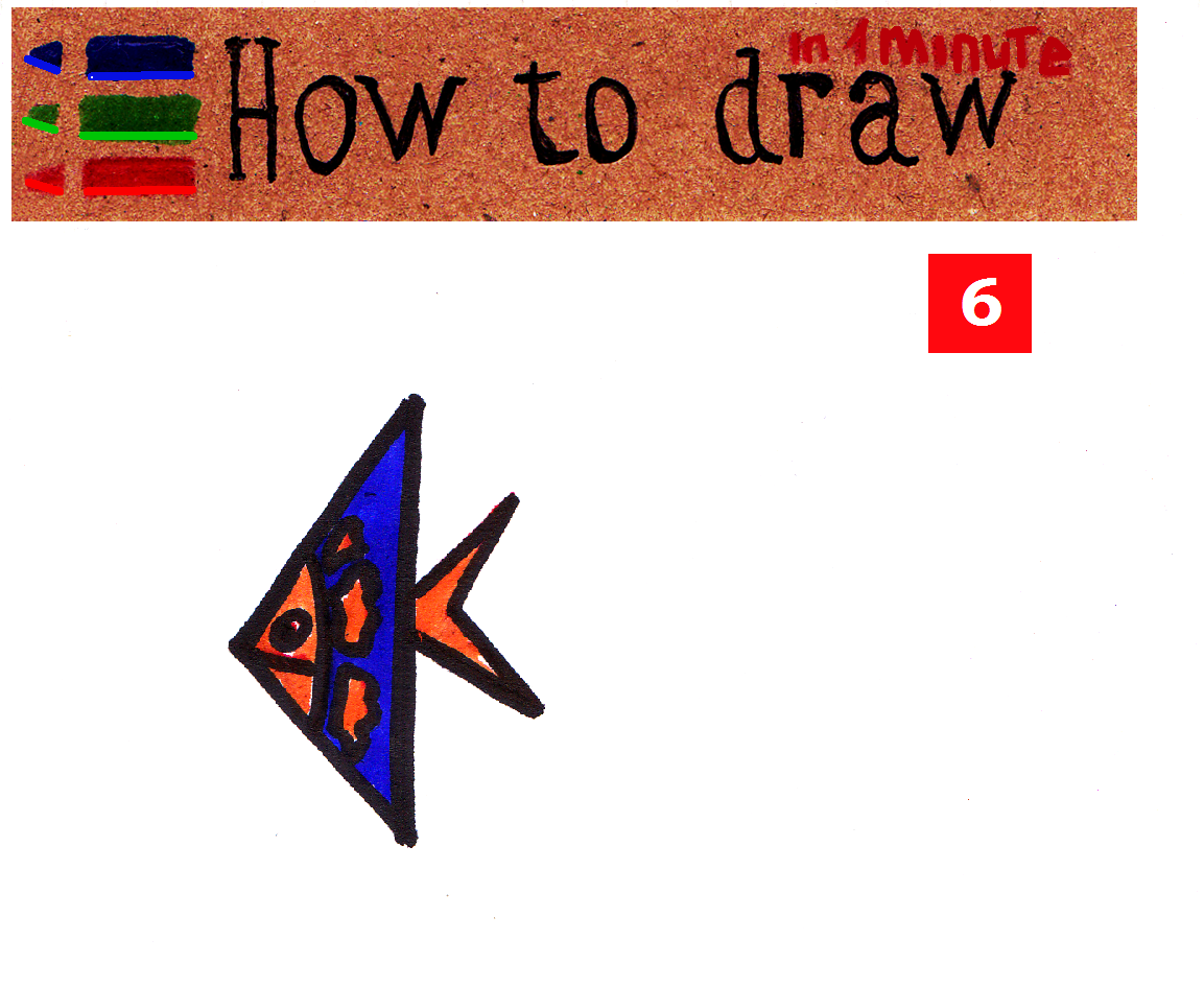 How to draw a fish lesson for kids