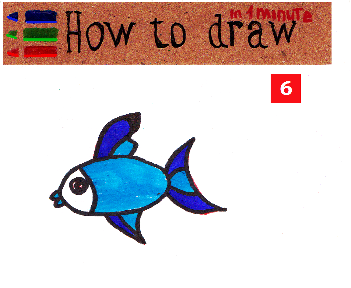 How to draw a fish - easy lesson