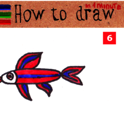 How to draw a fish step by step simple