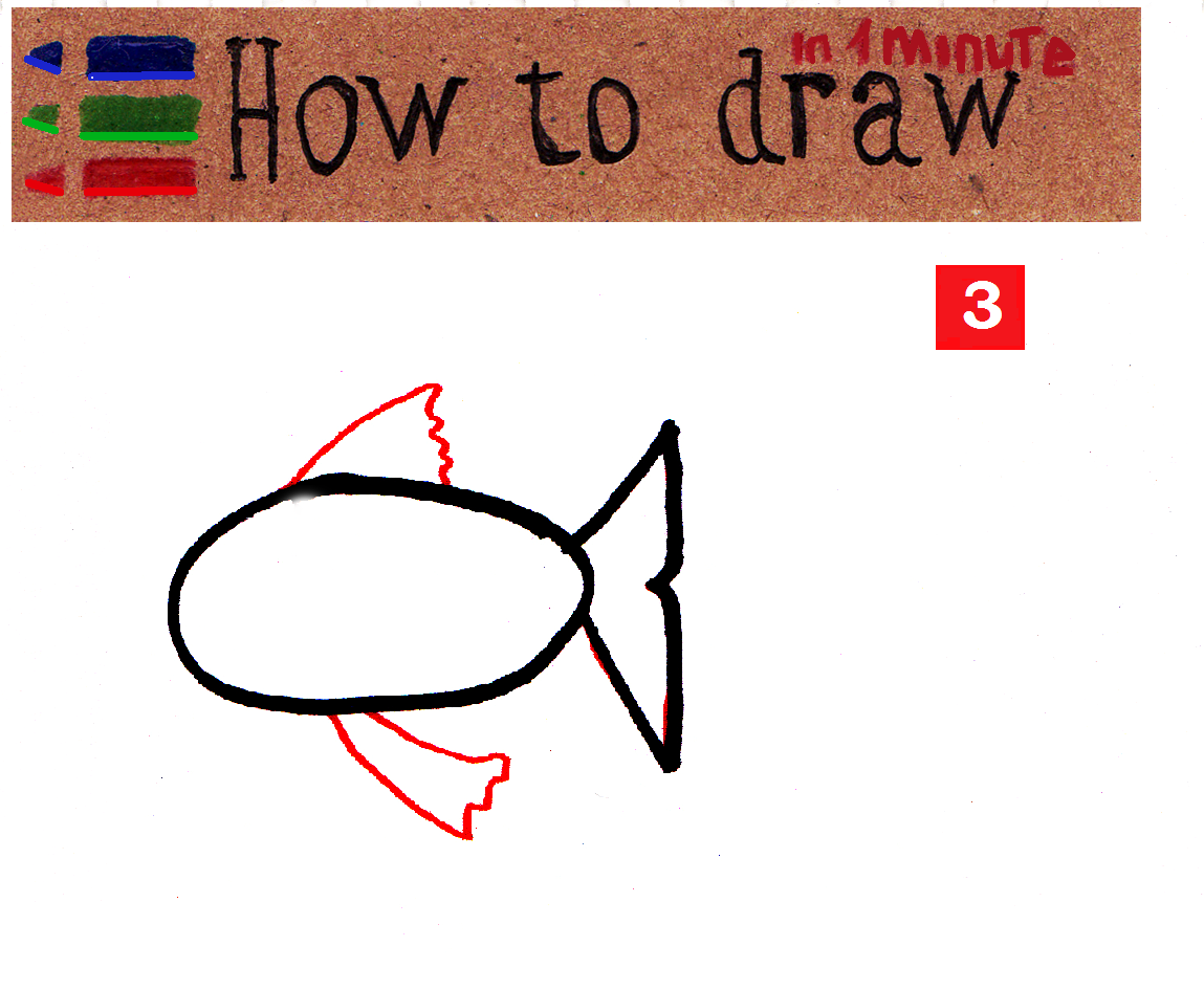 How to draw a fish easily for kids