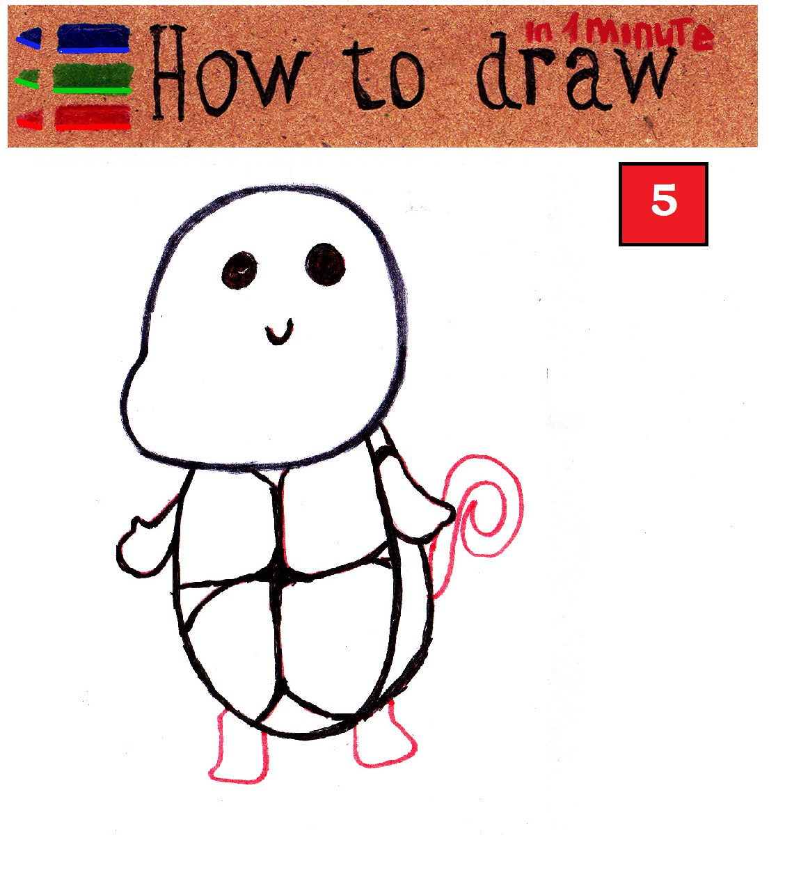 How to draw cute Pokemon Squirtle step by step