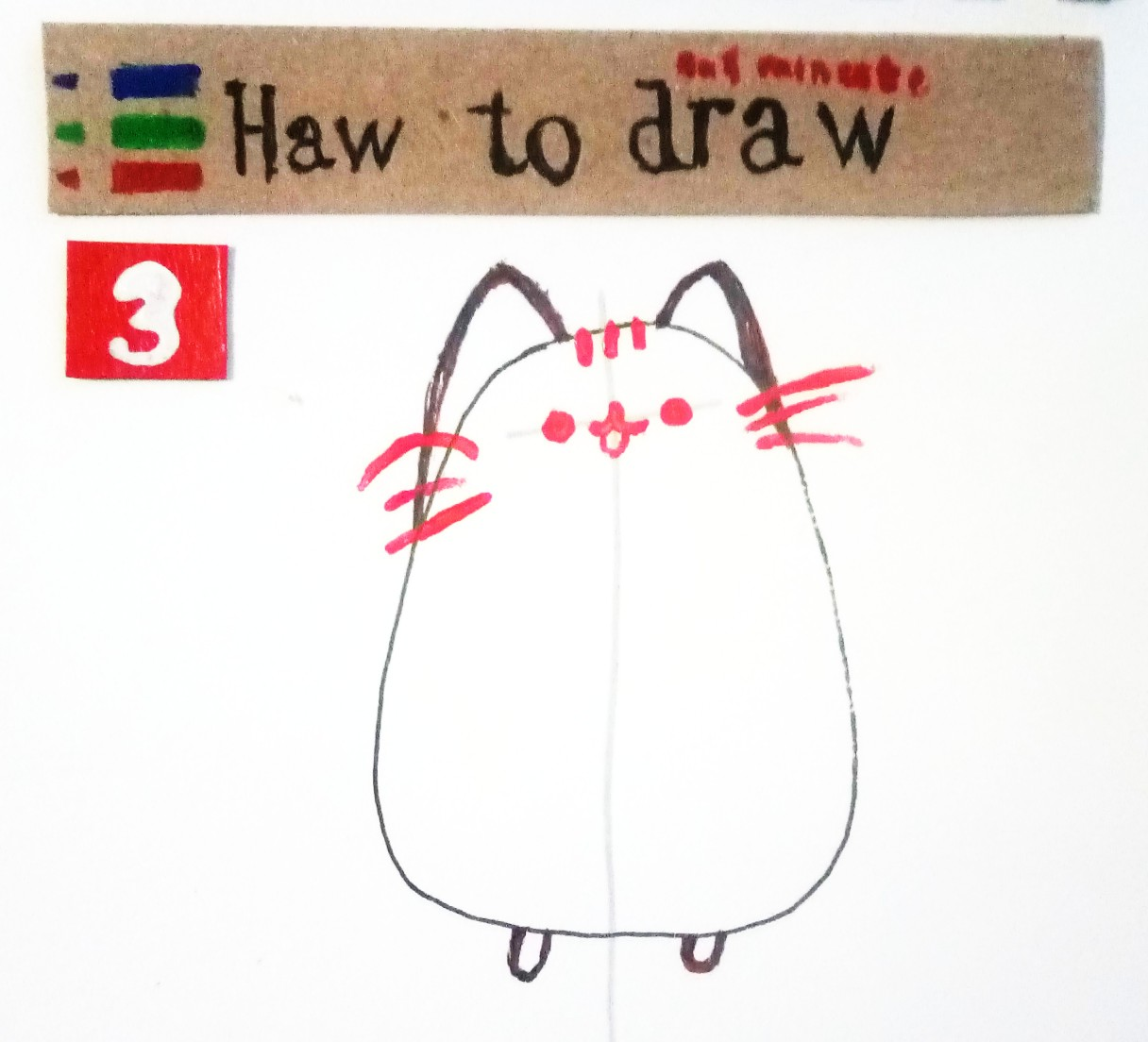 How to draw a Pusheen Cat
