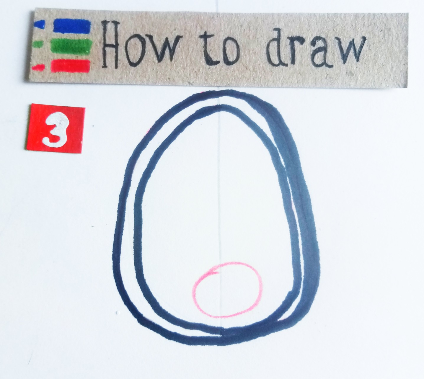 How to draw an avocado - step by step tutorial