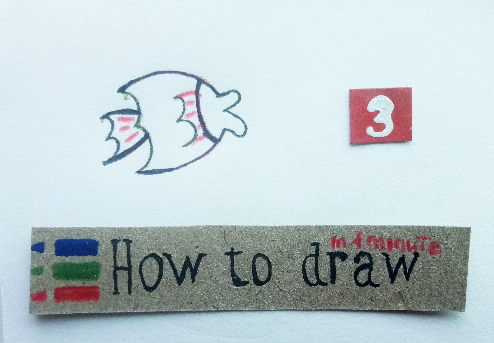 How to draw a fish - a lesson step by step