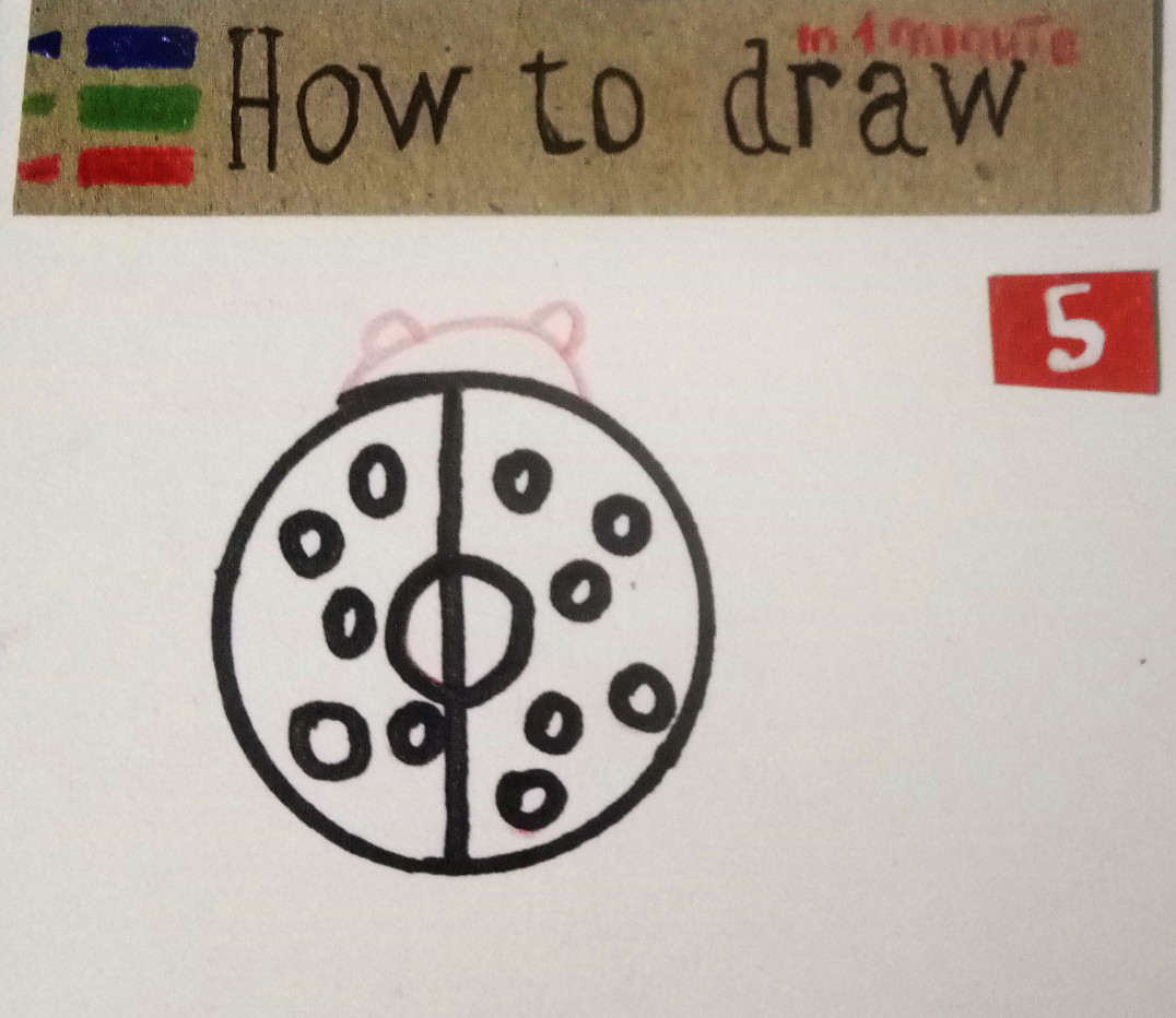 How to draw a ladybug, a simple tutorial for kids