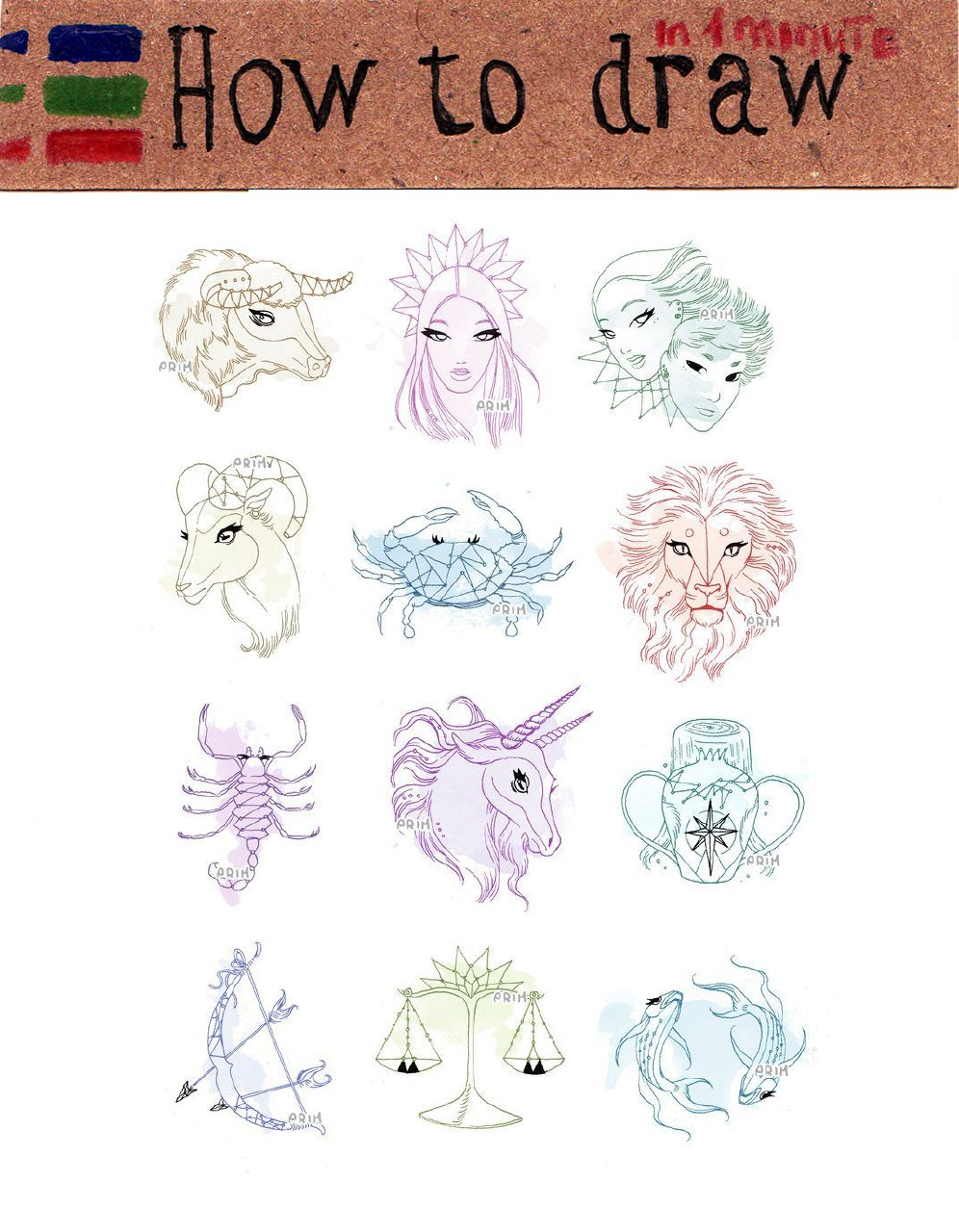 Zodiac signs: 15 free pictures