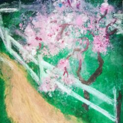 Painting in the style of impressionism for the interior