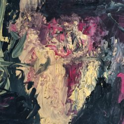 Painting in the interior in the style of abstraction