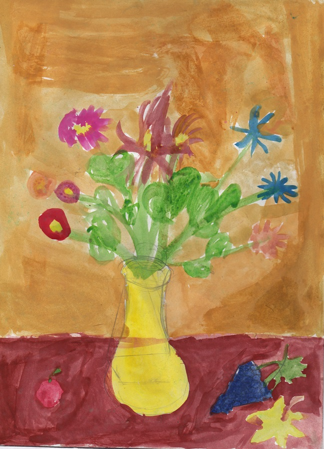 Still life сhildren drawing (1)