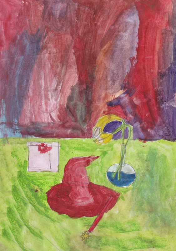 Still life сhildren drawing (5)