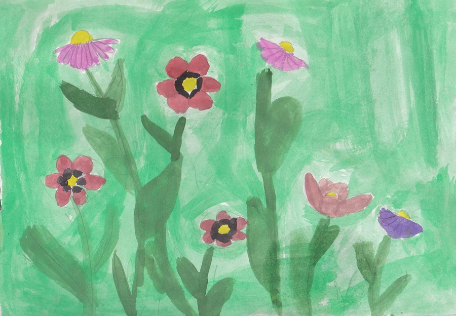 Wildflowers сhildren drawing (2)