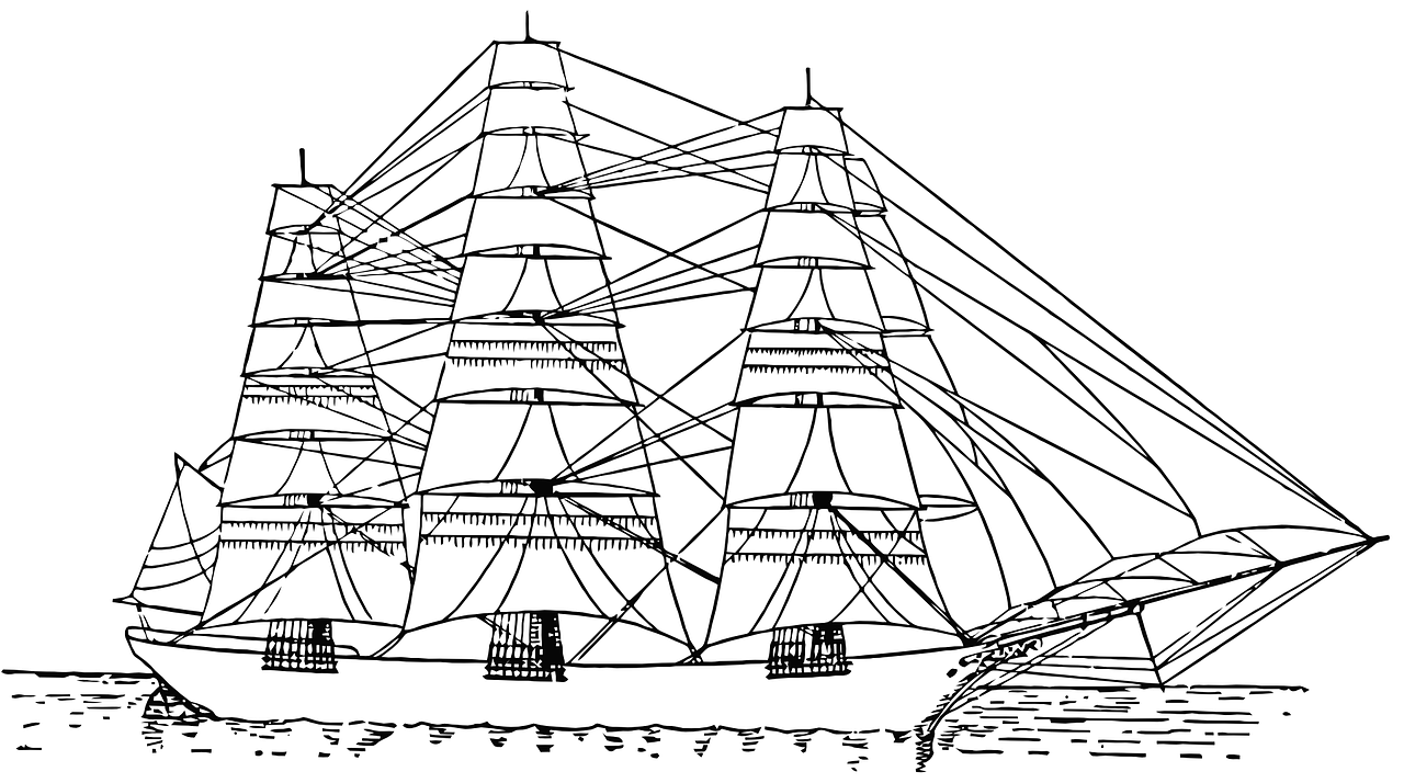 Boat coloring pages free for kids 3