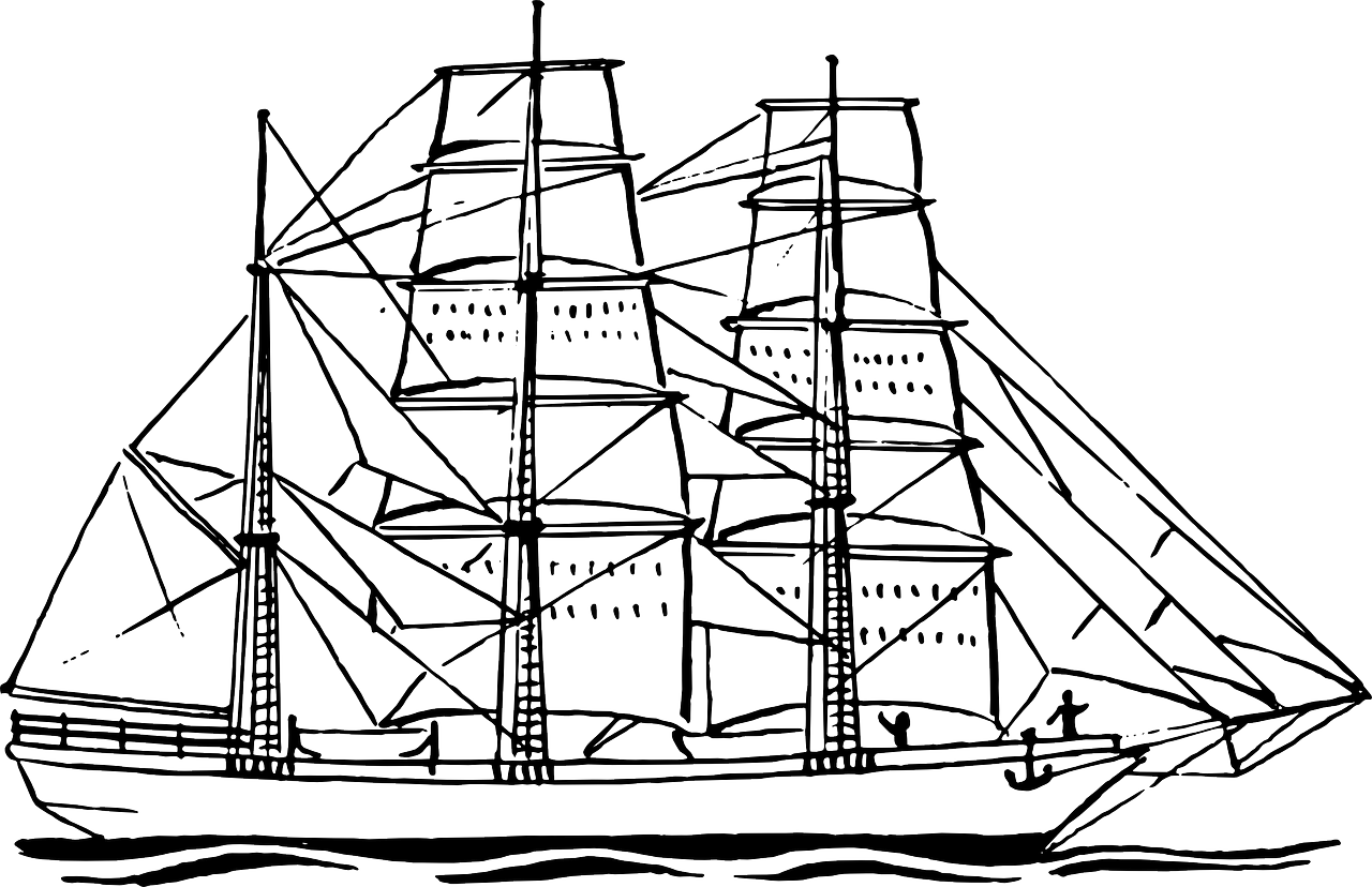 Boat coloring pages free for kids 7
