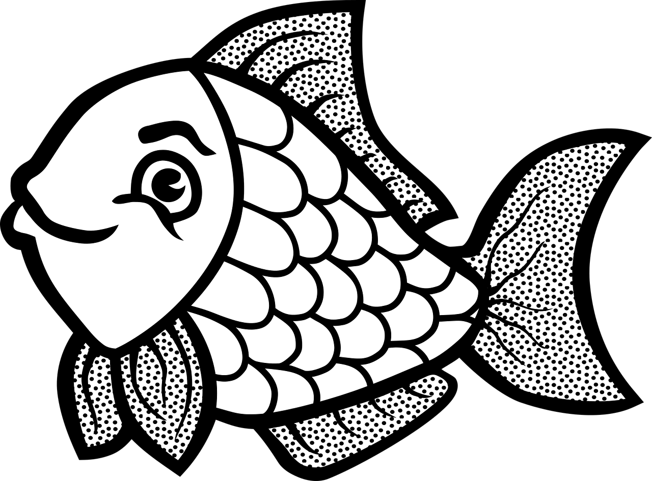 Fish coloring pages free for kids 1