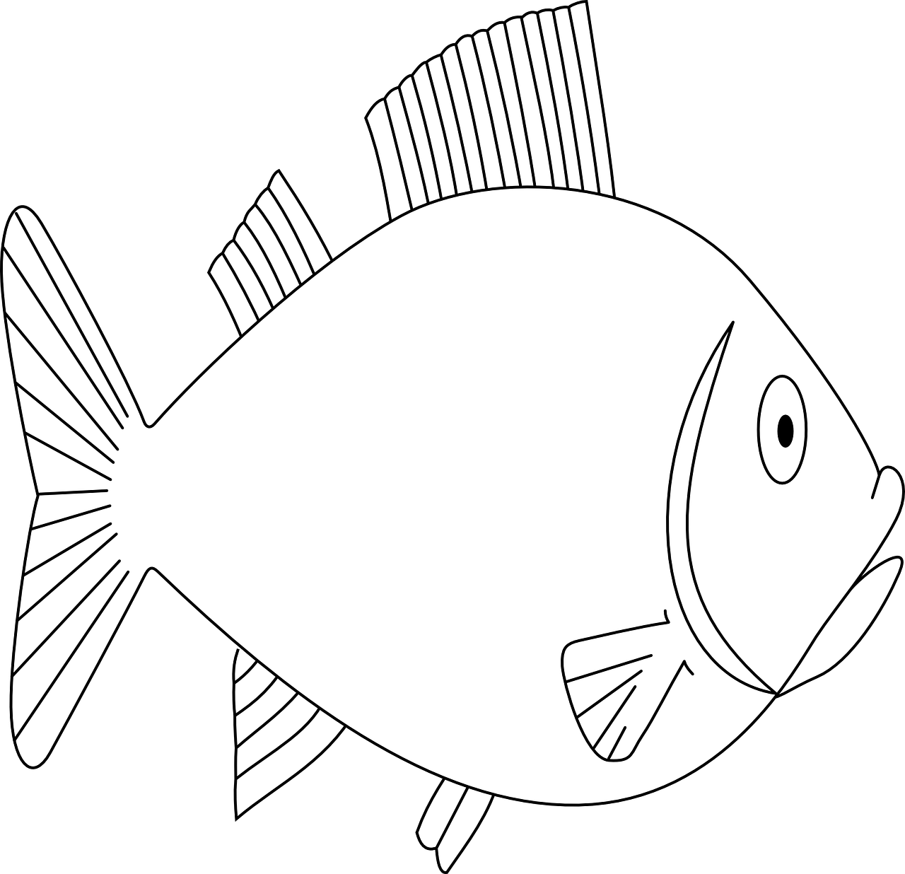 Fish Coloring Pages Free For Kids 4