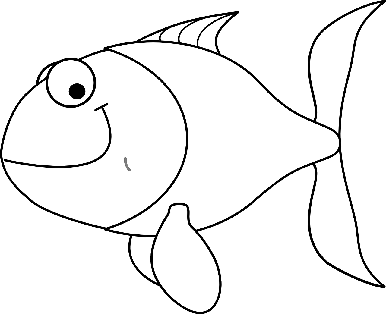 Fish coloring pages for kids 14 pics how to draw in 1 for Free coloring fish pages