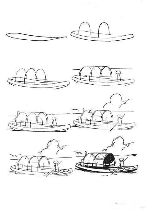 How to draw a boat step-by-step 5