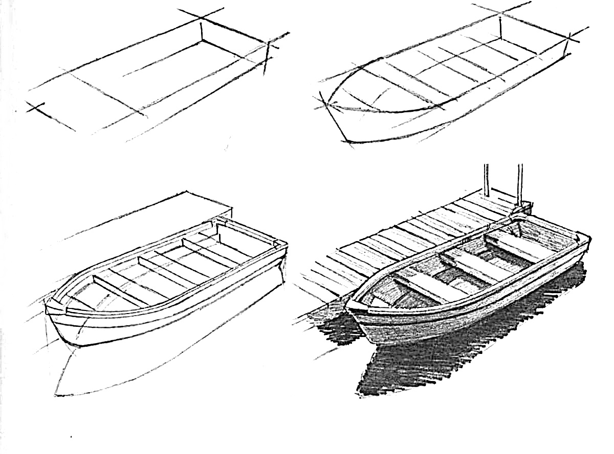 How to draw a boat step-by-step 7
